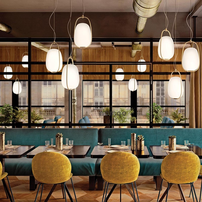 Modern Metal Led Chandelier Cast Iron Round Glass Ball Brass Chandelier For Kitchen Lighting In Northern Europe