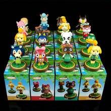 16 tipos 6-8cm animal crossing action figure brinquedo celeste isabelle chutes tom timmy raymond anime brinquedo crianças presentes de natal brinquedos