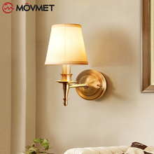 American Ceiling For Living room Kitchen Copper Round LED Lamp Gold Bedroom decor plafonnier Brass led Fixtures