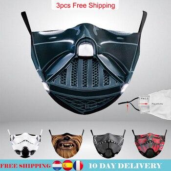 Adult Face Mask Star Cosplay Stormtrooper War Darth Vader Print Kid Washable Masks Fabric Reusable Cover