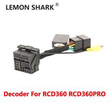 Decoder Für RCD360 RCD360 PRO Auto Plug & Play ISO Quadlock Adapter Kabel CANBUS Decoder Simulator Für VW