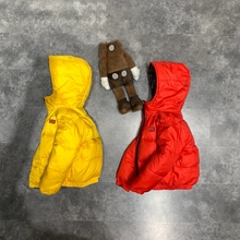 Children's fashion  brand  hooded jacket kids Two faces down coat