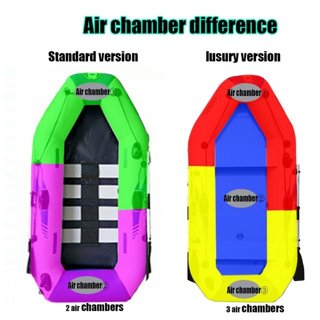 Bateau de pêche gonflable en PVC, 3 couches, stratifié, résistant à l'usure, pour 2 à 6 personnes, canoë à rames 2