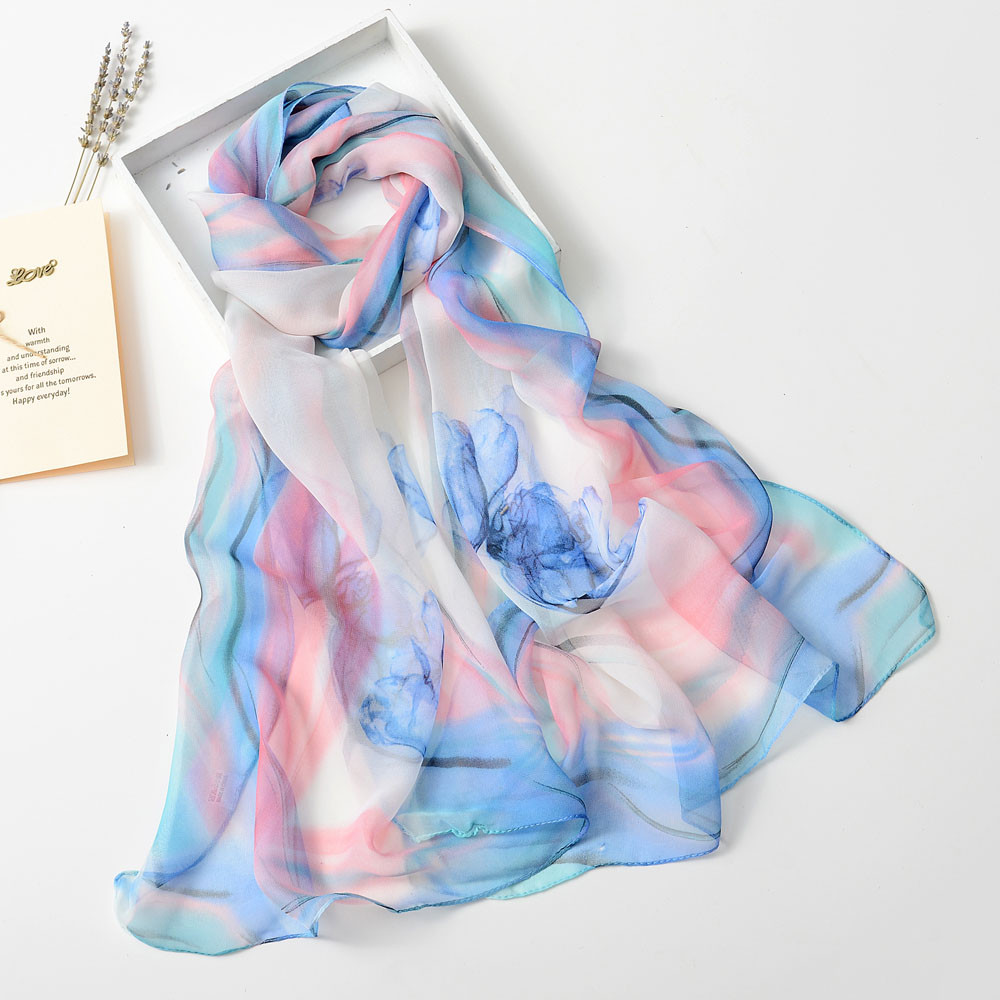 2020 New Autumn Winter Fashion Women Long Soft Wrap Scarf Ladies Shawl Chiffon Scarf Scarves Elegant Design For Ladies #11