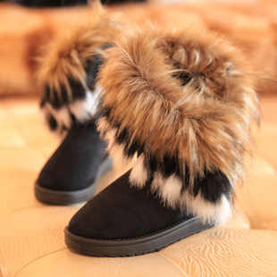 2020 Winter New Fashion Women Boots Snow Boots Ladies Cotton fox fur Boots Comfortable Warm fluffy Women Boot