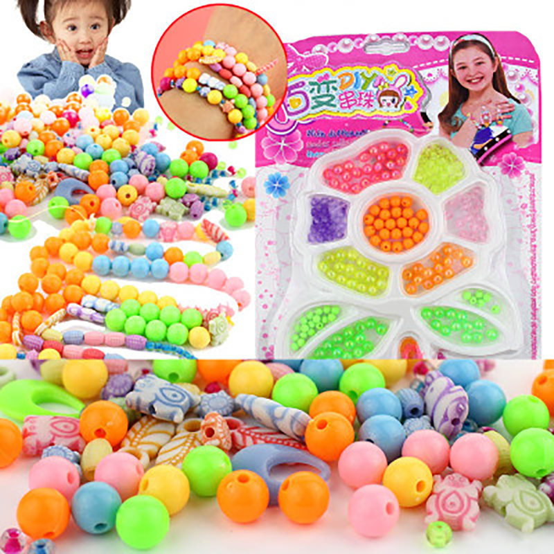 Children's DIY Variety Beaded Toys  Early Childhood Education Colorful Jewelry Beads Free Match Accessories Hand Eye Development