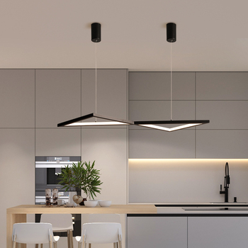 white/black Led Chandelier lighting for diningroom kitchen lustre led luminaire suspendu Hanging installation modern chandelier