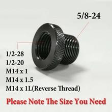 1Pcs 5/8 24 1/2 20 M14x1 M14x1.5สำหรับด้ายบาร์เรลอะแดปเตอร์การใช้หลอดกรองอะแดปเตอร์ด้ายเหมาะสำหรับNAPAการใช้Filter