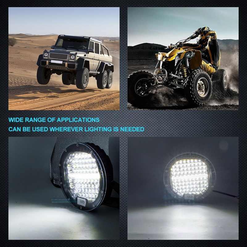 2 Pcs 7Inch 300W 5X7 7X6 Lampu Kerja LED Spot Beam Bulat Offroad Mengemudi lampu untuk Jeep ATV Uaz SUV 4X4 Truk Traktor Perahu Wrangle