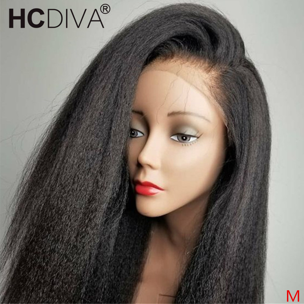 360 Lace Frontal Human Hair Wig For Women Kinky Straight Lace Frontal Wigs 250% Brazilian Remy Hair Pre Plucked With Baby Hair