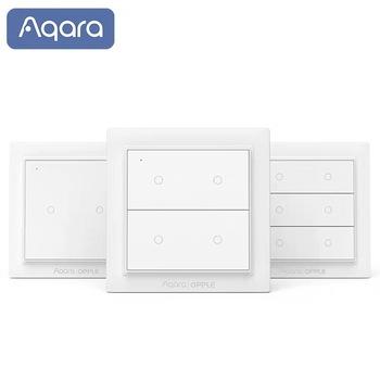 Aqara Opple Zigbee inteligentny przełącznik włącznik światła przełącznik bezprzewodowy bez okablowania wymagany inteligentny przełącznik ścienny do aplikacji Mijia Apple HomeKit tanie i dobre opinie Ready-to-go