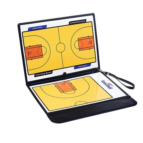 Portátil de Couro Ímãs para o Desenho Magnético Dobrável Basquete Tático Placa Treinamento Coaching Kit 24 Observando