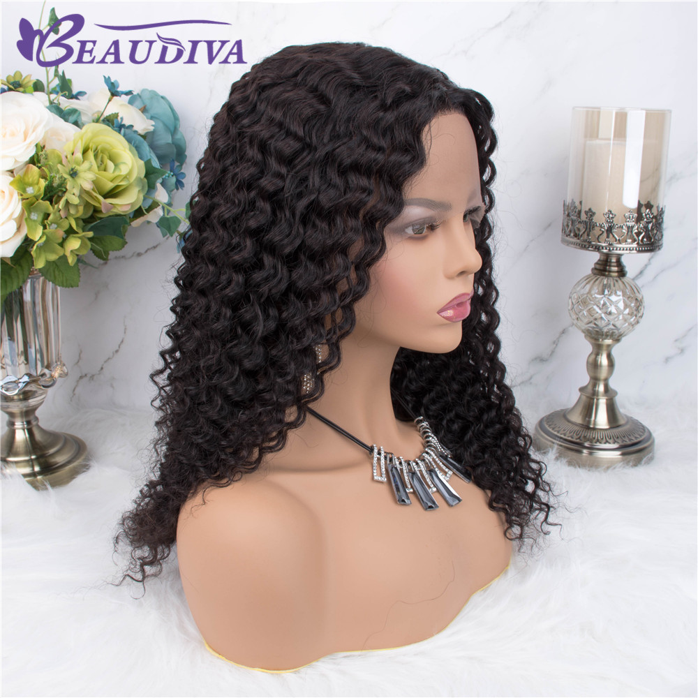 Brazilian Jerry Curl Wig Curly Lace Front Human Hair Wig Pre Plucked Part Lace Wigs For Black Women Mid Part