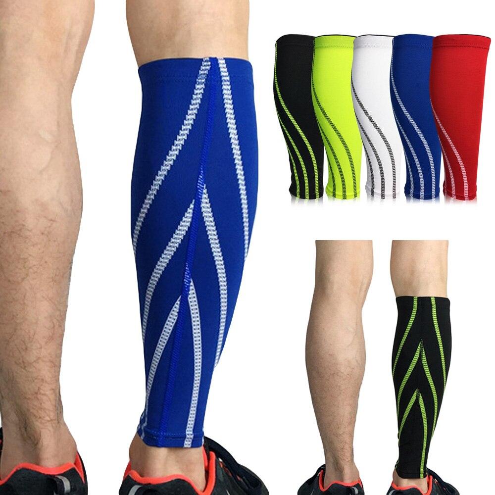 Sports Calf Leg Brace Guard Compression Elastic Leg Sleeve Support Football 1PC