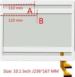 Черно-белый сенсорный экран для дорожек 10,1 дюймов, емкостный сенсорный экран, запасные части для ремонта панели
