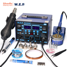 WEP 862BD+ Visible Adjustable Temperture Air Volume BGA Rework Station Hot Air Soldering Station SMD Rework Station With ESD