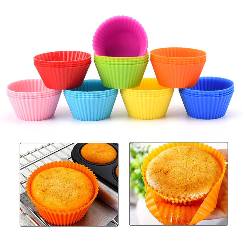 6/12/100pcs Paper/silicone Mold Cupcake and Muffin Cupcake Cup Cake Tools DIY Cake Decorating Tools Bakeware Baking Accessories