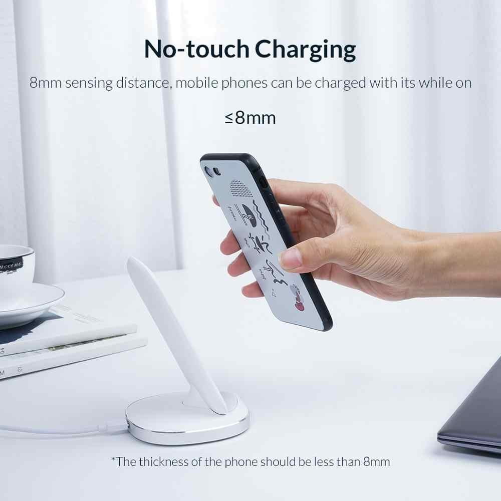 Orico Nirkabel Cepat Pengisian Dock Station Qi Wireless Charger untuk iPhone X XS 8 Samsung Charger Ponsel dengan Receiver untuk xiaomi