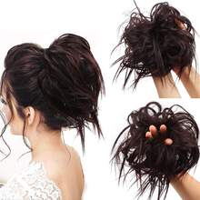 Kong&Li Synthetic Hair Chignon Donut Elastic Rope Rubber Band Hair messy bun Scrunchie Pad Updos Messy Hairstyle