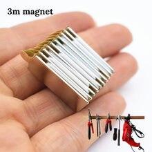 10 stücke N52 Neodym magnet mit 3M kleber kleine block super starken Permanent magnetische klebeband Bar Quader kreis