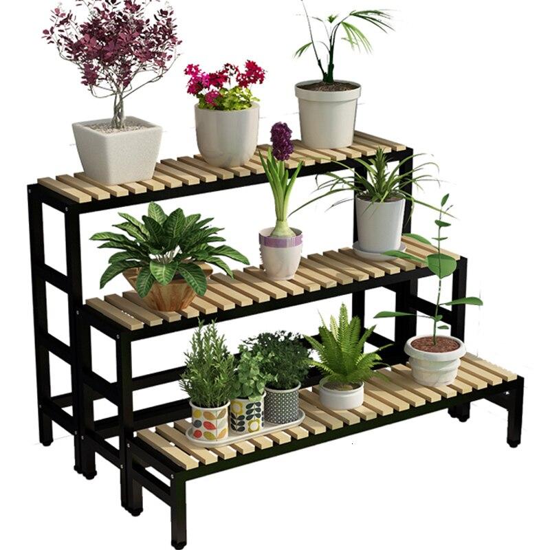 Art Rack Household To Ground Flower Rack Balcony A Living Room Meaty Botany Flowerpot Frame Ladder Province Space Flower Rack