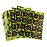 Цветочные наклейки для стрельбы по мишеням, бумага для спорта, высокая видимость, 160 шт, 2 дюйма, замена
