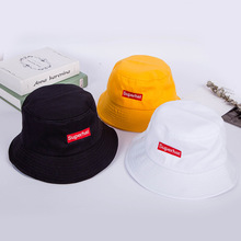2019 Bucket Hat Summer Letter Embroidery Fisherman's Hat Cotton Colored Outdoor SuperHat Travel Sun Cap 4 Colors For Women&Men