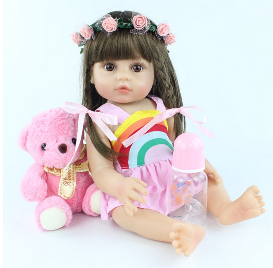 48cm Full Silicone Soft Body Reborn Baby Doll Toys Like Alive Baby Princess Babies Birthday Gift Fashion Present Girls Bonecas