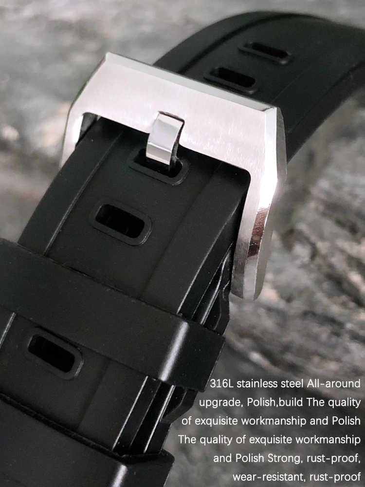 22mm kauçuk silikon saat kayışı için IWC AQUATIMER aile kordonlu saat IW356802/376705/376710/376711/376708/356801 serisi izle