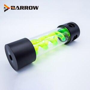 Image 3 - BARROW 255 мм X 50 мм двойная спираль Т Вирус цилиндрическая система освещения бака охлаждающей жидкости с водяным охлаждением POM + PMMA черная крышка