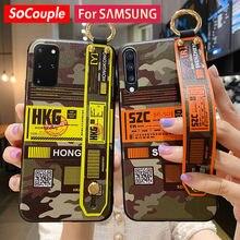 SoCouple Telefon Fall Für Samsung Galaxy Note 20 ultra A50 70 51 71 20 30 40 10 21 s S21 s9 S10 Plus S20 FE armband Halter Fall