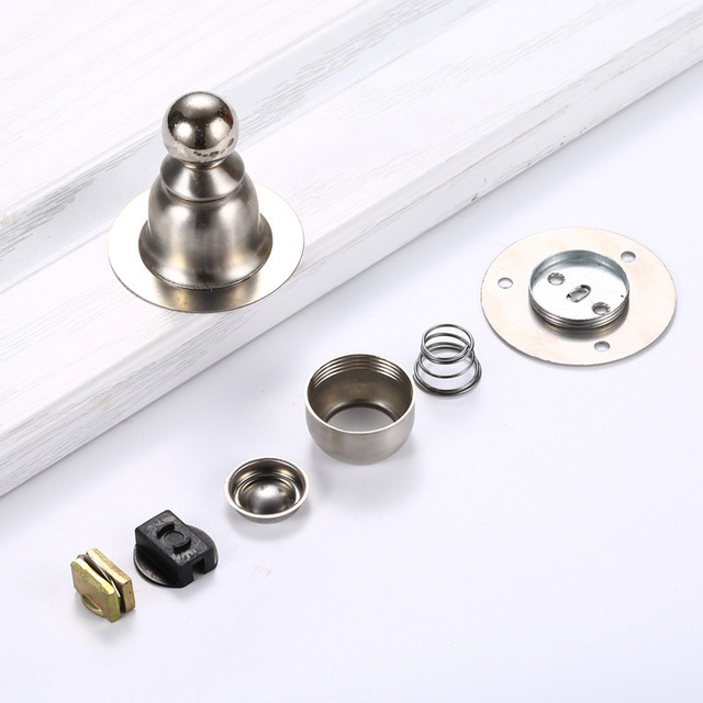 Stainless Steel Magnetic Door Stopper Nail-free Magnet Door Stops Anti-Collision Toilet Holder Catch Doorstop Furniture Hardware