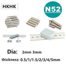 Sensore di hall magnete N52 2x1 2x2 3x1 3x1.5 3x2 3x3 3x5mm forte Circolare Disco Magnete Al Neodimio Magnete NUOVO di Arte Del Mestiere di Connessione