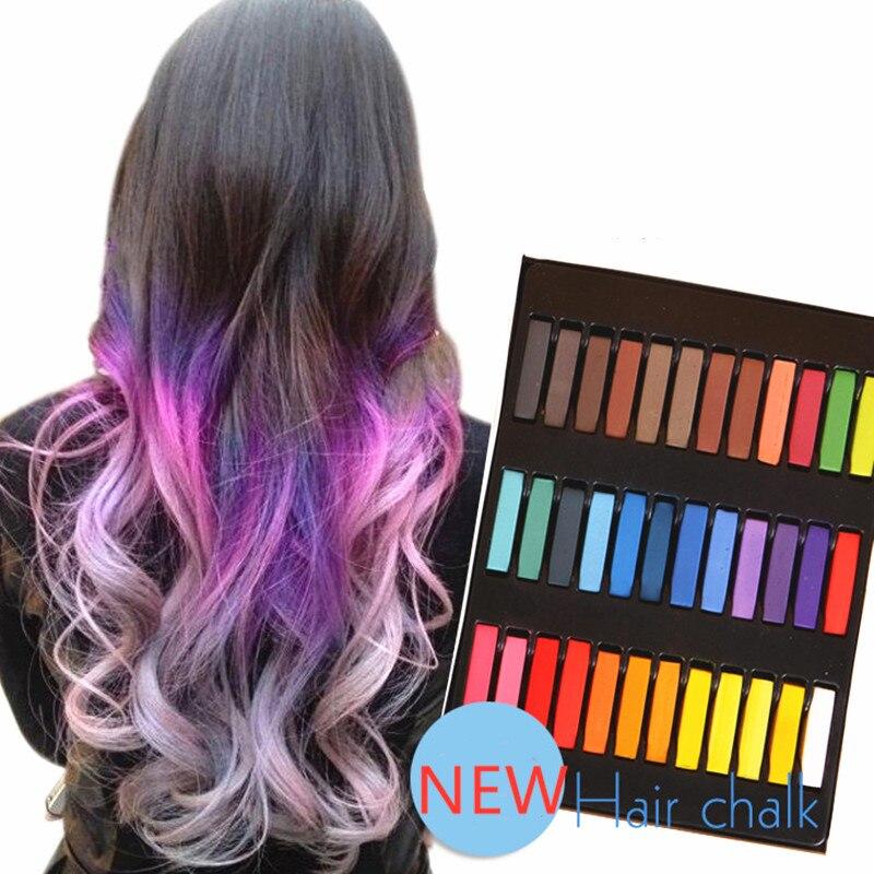 12/6pcs Hair Chalk Colors Crayons Powder Temporary Hair Color Dye Multicolor Paint Disposable Beauty Soft Pastels Festival Salon