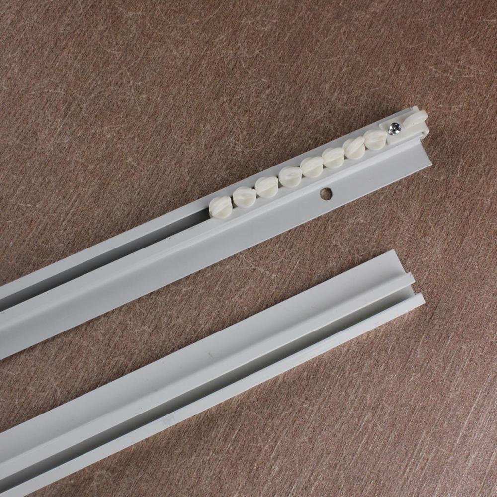 straight ceiling mounted curtain track rail straight slide windows balcony aluminum alloy home window decor accessor