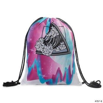 Dropshipping Drawstring Backpack Girl Drawstring Rucksack Small School Bag Travel Drawstring Bag Printing Drawstring Backpack фото