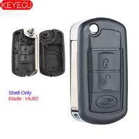 Flip Remote key shell Case 3 Button Fob for Land Rover LR3 Range Rover Sport Uncut 67# Blade|fob|fob case|fob key -