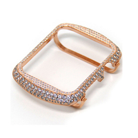 Luxury Jewelry Class Case For Apple Watch Series 4 Protector Case Crystal Diamonds Frame Cover For Apple iWatch Series 2 3 Shell