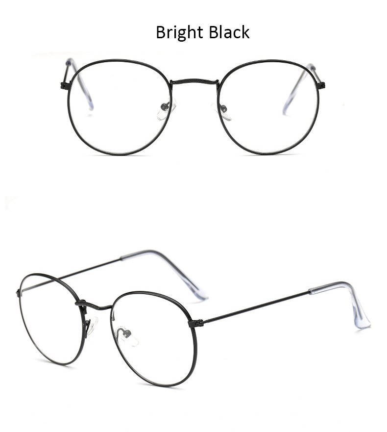 Fashion glasses frame Classic Round Women's Metal frame Optical Glasses Computer blue light Glasses oval eyeglasses frame Retro (12)