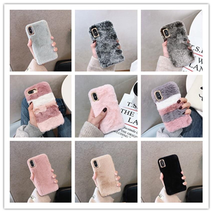 Case For Xiaomi Redmi Note 8T 8 Pro 7 6 K30 K20 Redmi 8A 8 7 Y3 6A 6 5A 5 Plus GO 4 3 4x 4A Colorful Rabbit Fur Cover