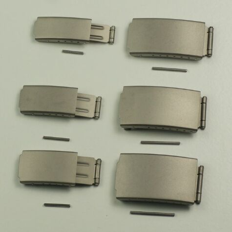 Quality Titanium Buckle 3 Fold & Adjustable Bracelet Watch Clasp 16mm - 20mm