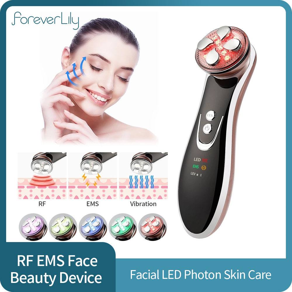 RF EMS Skin Rejuvenation Facial Massager Face Lifting Tightening Anti Aging Wrinkle Blackhead Removal LED Photon Beauty Device|LED Mask| - AliExpress