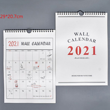 Wall-Calendar Plan Minimalism Creative Portable DIY Book with 1pcs