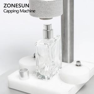 Image 2 - ZONESUN Manual Crimping Machine Perfume Crimper Capper Metal Collar Cap Press Capping Machine Spray Crimper
