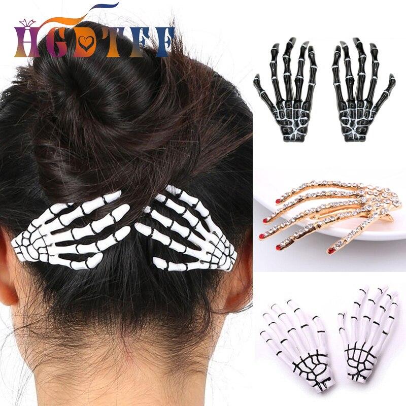 1 шт. костюм для Хэллоуина для женщин аксессуары для волос Скелет Когти Череп заколка для волос заколка украшение для Хэллоуина