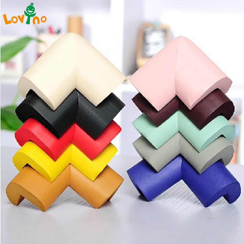 10pcs/lot New Arrival Children Protection Table 10 Solid Colors Optional Pads On Corners Thick Corner Protector Baby Edge Guards