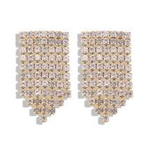 Fashion Long Geometric Tassel Drop Earrings Vintage Luxury Gold Silver Color Crystal Earrings Women Party Jewelry Gift цена и фото