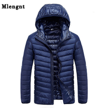 2019 Autumn Men #8217 s Ultralight White Duck Down Hooded Jacket Male Windproof Waterproof Parkas Coats Ultra Light Stand Collar XCZ34 cheap TIGER CASTLE Slim Waterproof feather jacket Casual zipper Full Pockets Zippers STANDARD Broadcloth Polyester NONE 100g