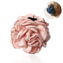 Fashion Korean Women Hair Claws Flowers Plastic Clips Large Fabric Headbands For Accessories