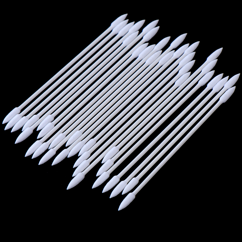 25/100pc/bag Disposable Cotton Swab Cosmetics Permanent Makeup Health Medical Ear Jewelry Clean Sticks Buds Tip Cotton Head Swab